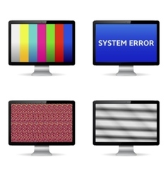 No signal on computer digital screens vector