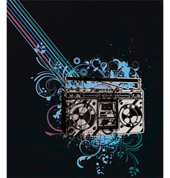 Retro concert poster vector