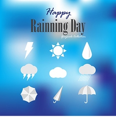 Happy rainning day vector