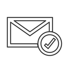Envelope with check icon vector