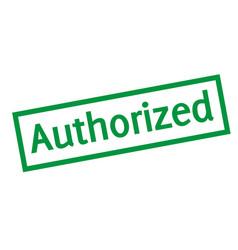 Authorized sticker stamp vector