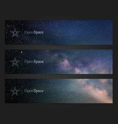 banners with beautiful starry sky milky way and vector image vector image