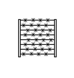 barbed fence icon vector image