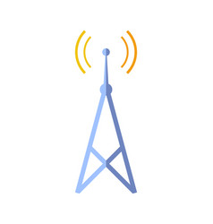 broadcasting tower isolated icon vector image vector image