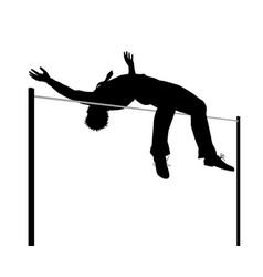 businessman high jump silhouette vector image