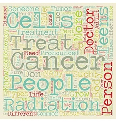 Cancer in teens text background wordcloud concept vector