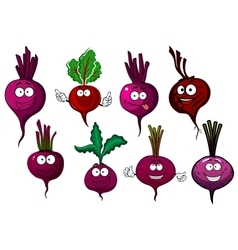 Cartoon isolated purple beet vegetables vector image vector image