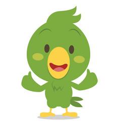 cartoon parrot character vector image vector image