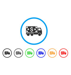 Cash delivery rounded icon vector