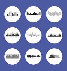 charts set placed in circles vector image vector image