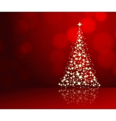 christmas background red vector image vector image