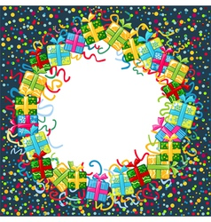 Christmas celebration border vector