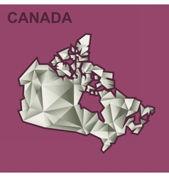 Digital canada map with abstract vector