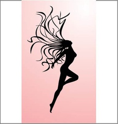 Female silhouette vector image