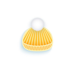 flat knitted winter hat isolated vector image