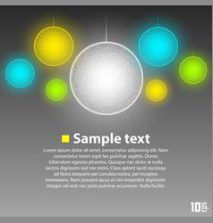 glowing balls vector image vector image