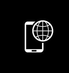 international roaming icon flat design vector image