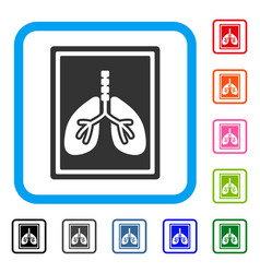 Lungs fluorography framed icon vector