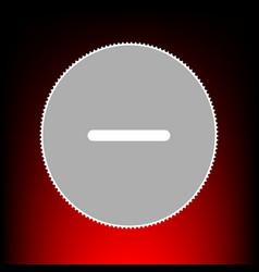 Negative symbol minus sign postage vector