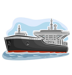 oil tanker ship vector image vector image