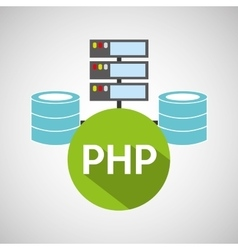 php language data base storage vector image vector image