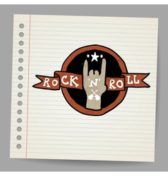 Rock and roll sign vector image