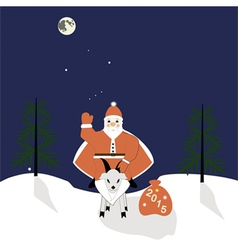 Santa on a goat vector image vector image