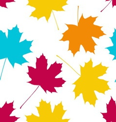 seamless pattern with maple leaves Autumn fall vector image vector image