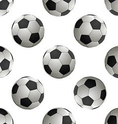 Soccer football Seamless pattern vector image