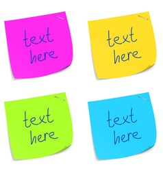 sticky memo notes vector image vector image