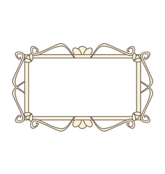 Sweet pastel retro art deco frame vector image vector image