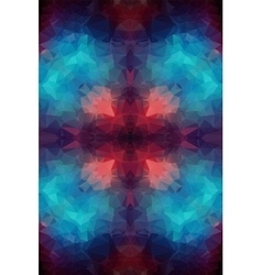 Tial orange polygonal background vector