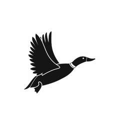 Duck icon simple style vector