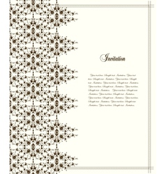 Frame and pattern vector image