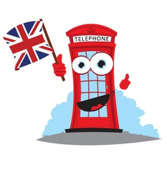 Funny english telephone vector