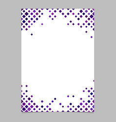 Brochure template from purple diagonal square vector