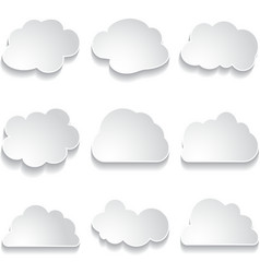 White paper clouds vector