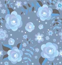 Seamless pattern with ice roses vector