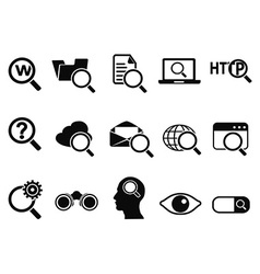 Searching icons set vector
