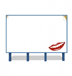 Advertisement board vector