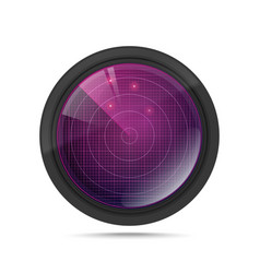 3d radar with targets in process vector image vector image