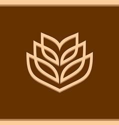 Wheat ear technical logo template vector image