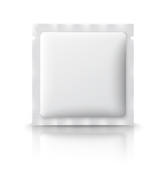 Blank plastic sachet for medicine condoms drugs vector