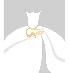 Bride dress background vector