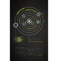 Infographics abstract presentation of business vector