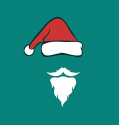 Santa hats and beards vector