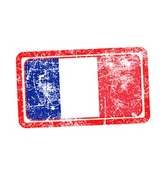 France flag red grunge rubber stamp vector