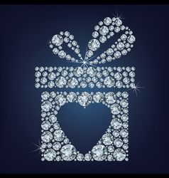 Valentines day concept of gift present with heart vector
