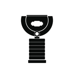 Sports cup black simple icon vector
