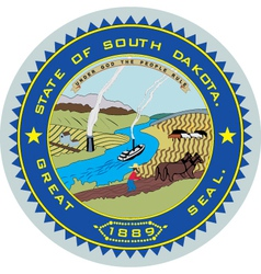 South dakota seal vector